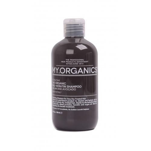 Органический шампунь для поддержания кератинового лечения с экстрактом шелка