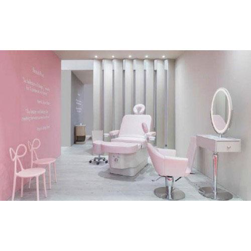 Салон красоты с мебелью в розовом цвете