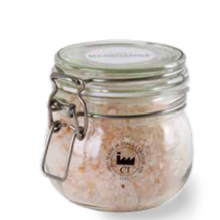 Кристаллизованная гималайская соль с лавандой, сосной и лимоном от жирной перхоти