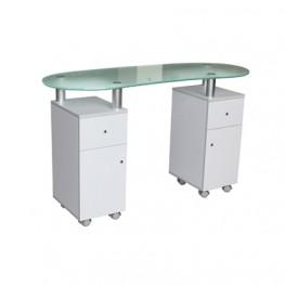Стол для маникюра Glass Double для салона красоты