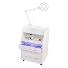 Тележка для маникюра-педикюра с бактерицидной лампой серия С / CORIAN