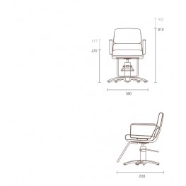 Крісло перукарське Adria II